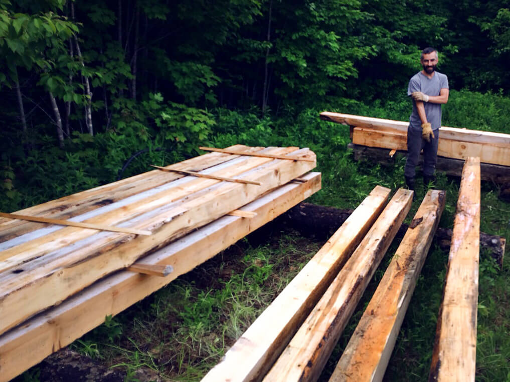 Timbers cut, stacked and ready for the build.