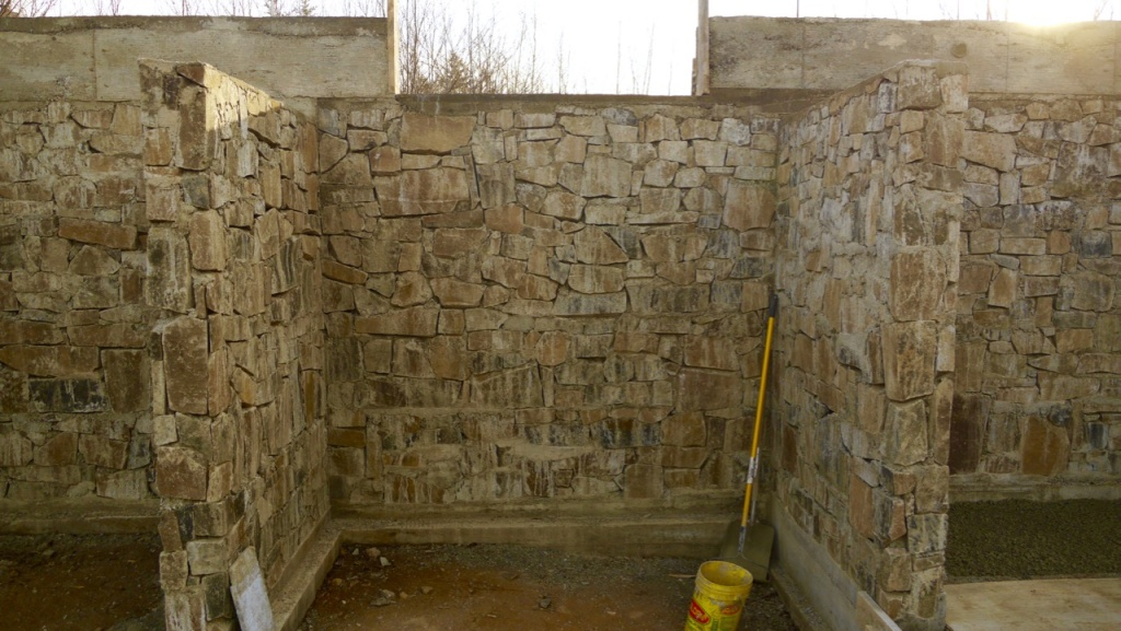 The finished masonry walls
