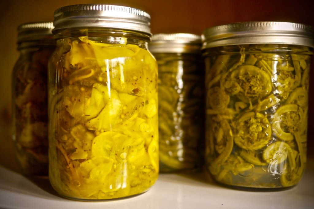 Can't go wrong with pickled fiddleheads!