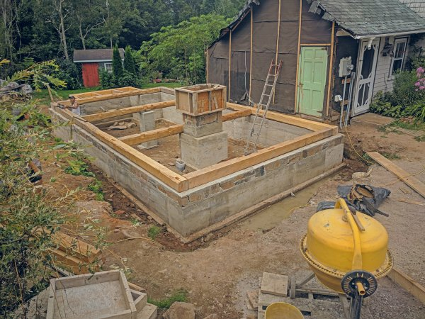 Adding timber-frame extension to a home